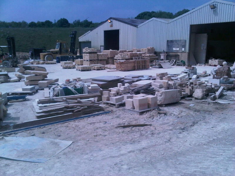 Natural English Stone. View of Manufacturing plant