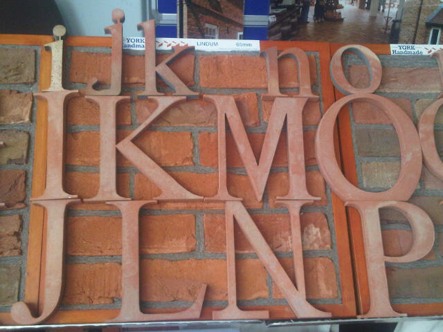 Clay Clay Terracotta Letters