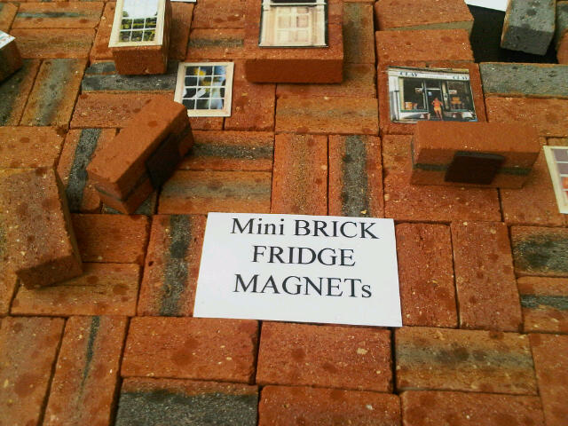 Clay Clay Fridge Magnets. Miniature clay bricks to put on your fridge and design your own creations