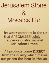 Jerusalem Stone. Importers of Jerusalem stone from the banks of the Jordan