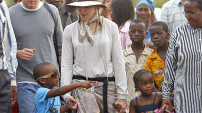 Madonna on a previous visit to Malawi